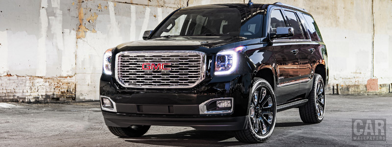 Обои автомобили GMC Yukon Denali Ultimate Black - 2018 - Car wallpapers