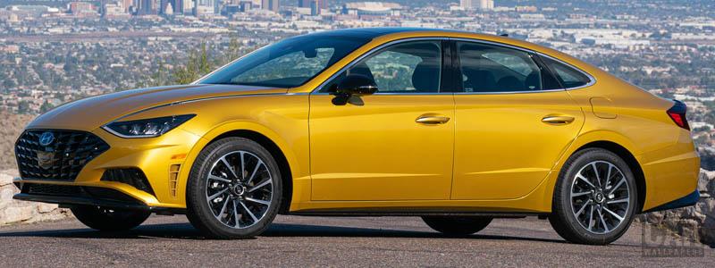 Обои автомобили Hyundai Sonata SEL Plus US-spec - 2019 - Car wallpapers