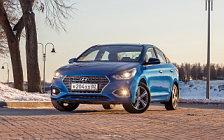 Обои автомобили Hyundai Solaris - 2017