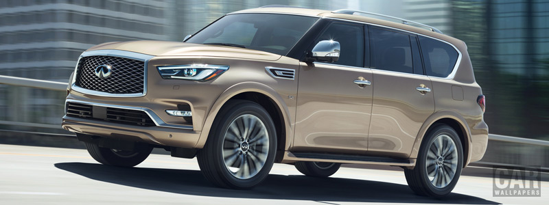 Обои автомобили Infiniti QX80 5.6 - 2018 - Car wallpapers