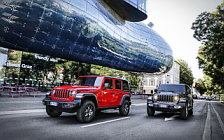 Обои автомобили Jeep Wrangler Unlimited Rubicon and Jeep Wrangler Unlimited Sahara EU-spec - 2018