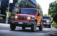 Обои автомобили Jeep Wrangler Unlimited Rubicon and Jeep Wrangler Unlimited Sahara EU-spec - 2018