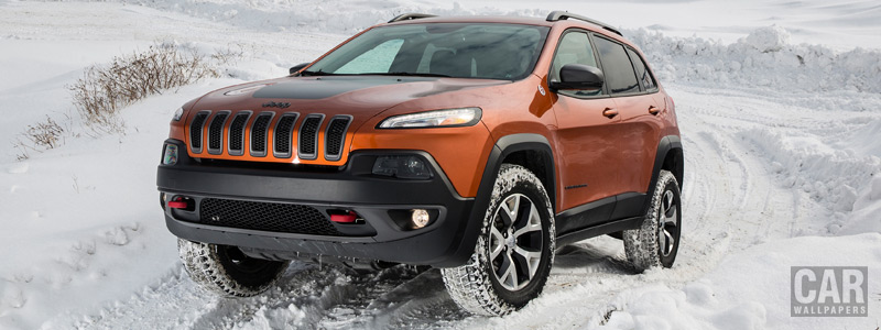 Обои автомобили Jeep Cherokee Trailhawk - 2015 - Car wallpapers
