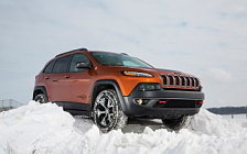 Обои автомобили Jeep Cherokee Trailhawk - 2015