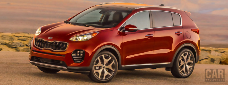 Обои автомобили Kia Sportage SX Turbo 2WD US-spec - 2016 - Car wallpapers