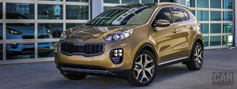 Обои автомобили Kia Sportage SX Turbo AWD US-spec - 2016 - Car wallpapers