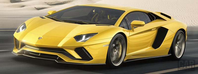Обои автомобили Lamborghini Aventador S - 2017 - Car wallpapers