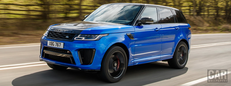 Обои автомобили Range Rover Sport SVR UK-spec - 2018 - Car wallpapers