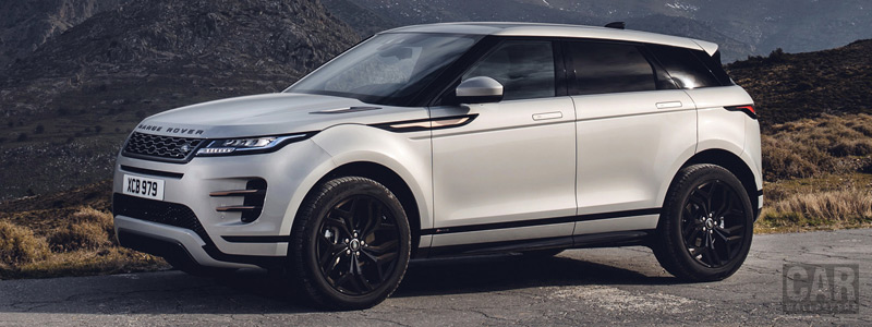 Обои автомобили Range Rover Evoque R-Dynamic (Seoul Pearl Silver) - 2019 - Car wallpapers