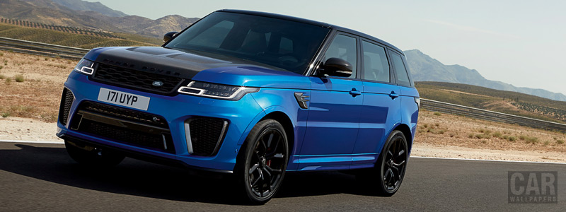 Обои автомобили Range Rover Sport SVR - 2017 - Car wallpapers