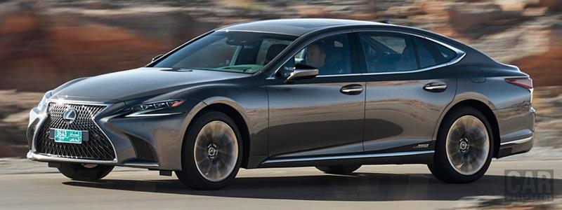 Обои автомобили Lexus LS 500h AWD (Manganese Luster) - 2017 - Car wallpapers