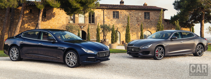 Обои автомобили Maserati Quattroporte GranLusso & GranSport - 2018 - Car wallpapers